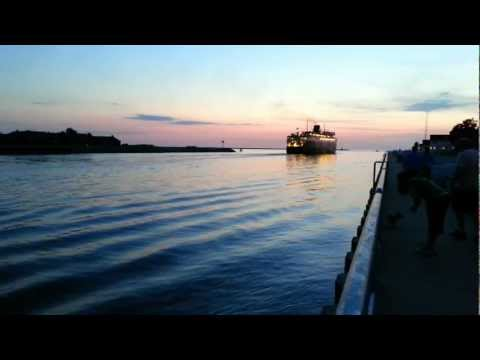 S.S. Badger Leaving Ludington, Evening Of September 06, 2012 