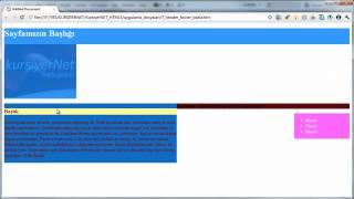 HTML5 Yapisal Etiketler - Header ve Footer programnedir.com