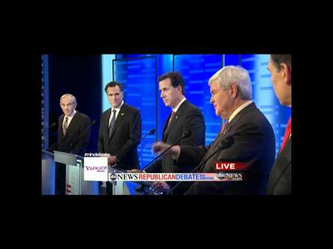 ABC News/Yahoo/WMUR Republican Debate at Saint Anselm College in Manchester, NH (January 7th, 2012)