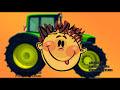 Фрагмент с конца видео - Мультик - Пазл. Техника для малышей. Зеленый Колесный Трактор. Мультфильм для детей
