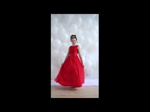 Нарядное платье Корнелия красное