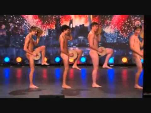 Швеция търси талант гол танц - Sweden's got talent naked dance!