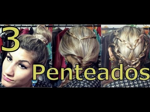 3 Penteados fáceis - Hairstyles  Pamella Rocha