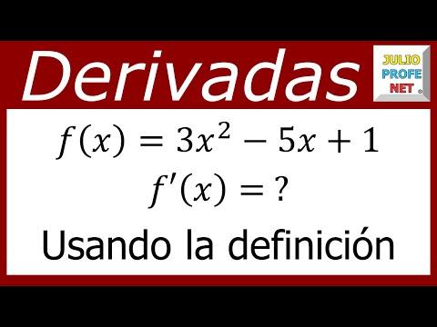 Derivada de una función usando el límite