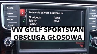 Volkswagen Golf Sportsvan - obsługa głosowa