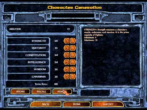 Let's Play Baldurs Gate Enhanced Edition 02: Character Generation