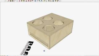 RAM Designs: Skar Audio VVX-15 Ported Box Design - YouTube