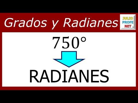 Conversión de grados a radianes
