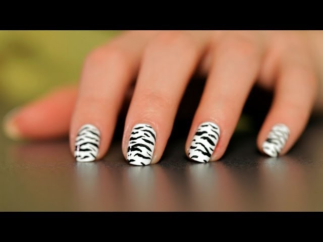 How to Do a Zebra Design | Nail Art