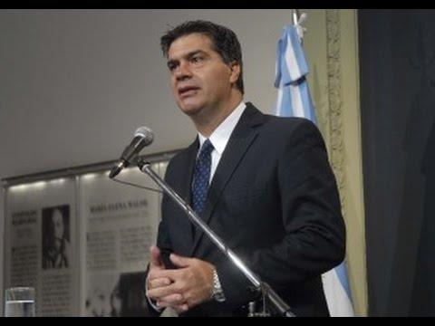 <b>Conferencia.</b> Jorge Capitanich desminti� renuncia y celebr� acuerdos con China.