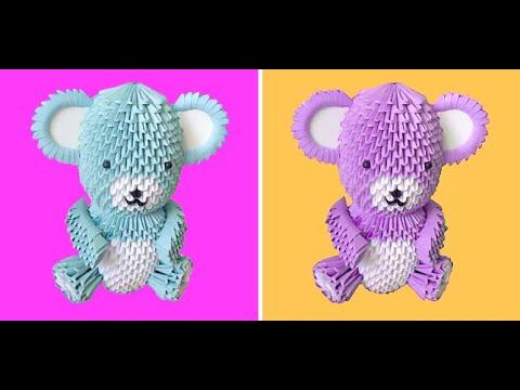 3D Origami Teddy Bear Tutorial - Part 1