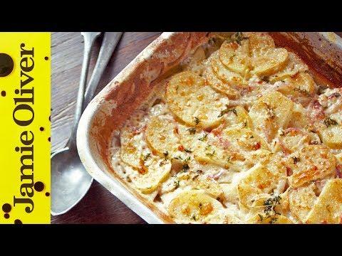 Jamie's Quick Potato Dauphinoise