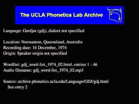 Gurdjar audio: gdj_word-list_1974_02