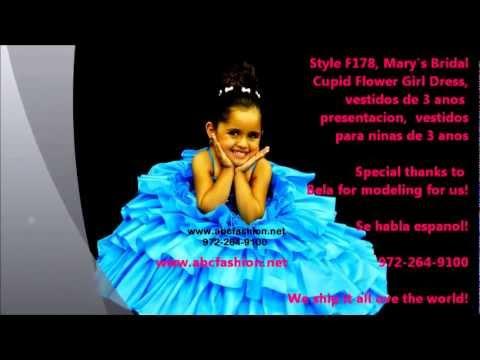 Vestidos para ninas de 3 anos, Vestidos de Primera Comunion - YouTube