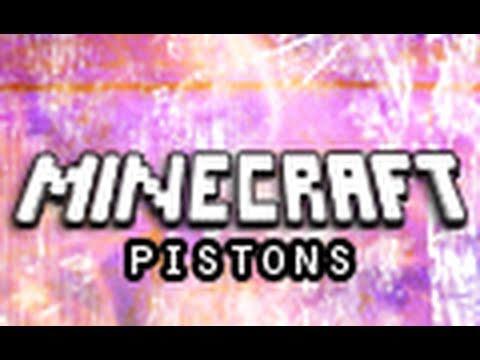 Minecraft: Pistons (Piston Mod Demonstration)