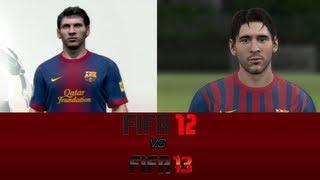 Fifa 13 vs Fifa 12 Face Comparisons