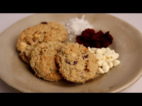 White Chocolate Coconut Cranberry Oatmeal Cookie Recipe - Laura in the Kitchen Ep 285