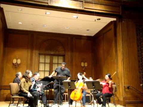 "Rehearsal video: Dolce Suono Ensemble and Eric Owens play Steven Mackey's ""Herr Gutmann"""