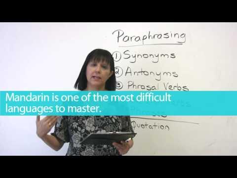 English Writing - Paraphrasing