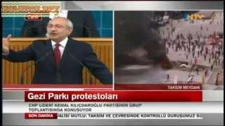 CHP Milletvekili Kemal Kılıçdaroğlu Gezi Park ve Taksim Konuşması Canlı Yayın 11.06.2013