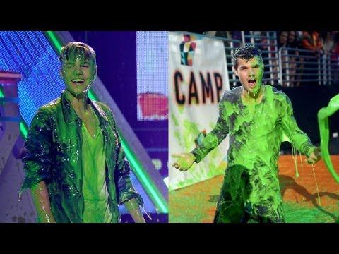 Justin Bieber & Taylor Lautner Get Slimed Kids' Choice Awards 2012 Show Highlights