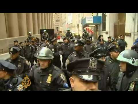 Occupy Wall Street protesters march on NY stock exchange