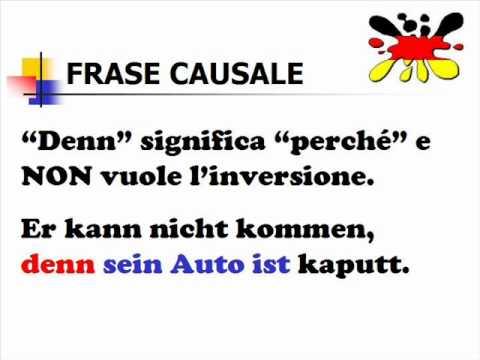 Lezioni di tedesco 26- frase causale