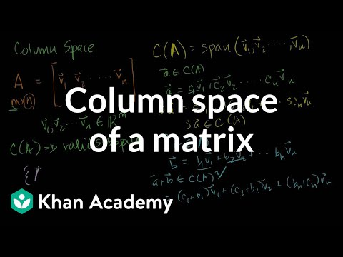 Column Space of a Matrix