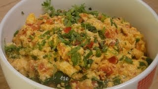 Paneer and Capsicum Bhurji..