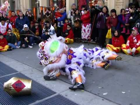 PEARL RIVER MART - WAN CHI MING HUNG GAR - lion dance February 5 2012