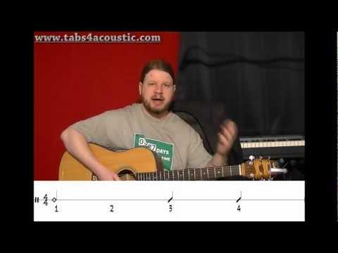 Cours de guitare : Les rythmiques 1 : noires et blanches - Partie 2