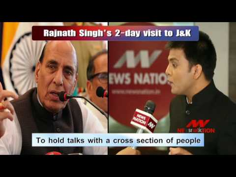 National Expert: Rajnath in Kashmir, reviews security situation