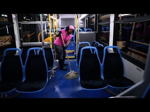 Thumbnail image for 'CTA redoubles efforts to clean buses'