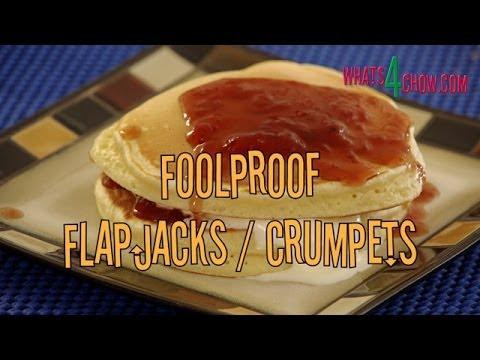 Foolproof Flapjacks or Crumpets. Fail-proof flapjack or crumpet recipe. Quick and easy flapjacks.