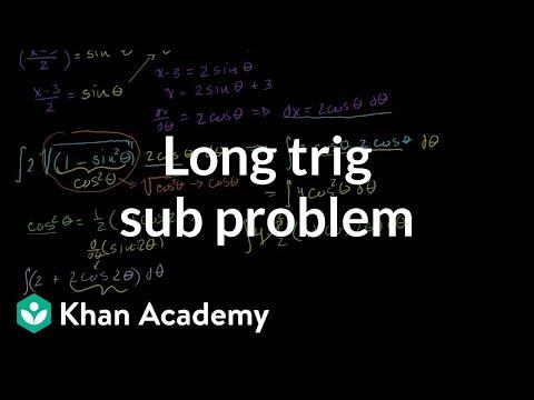 Integrals: Trig Substitution 3 (long problem)