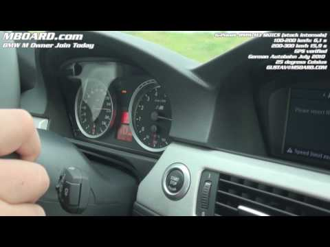 BMW M3 G-Power SKII CS 100-300 km/h GPS-verified  on Autobahn (legally)