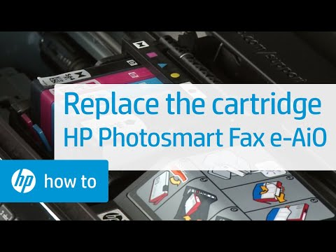 Replacing a Cartridge - HP Photosmart Premium Fax e-All-in-One Printer (C410a)