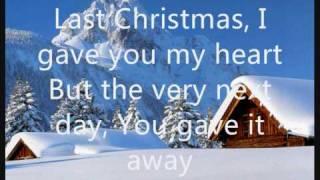 Wham Last Christmas Lyrics On Screen Youtube