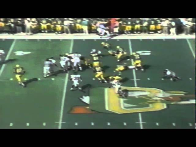 Former Duck coach Rich Brooks interviewed during Pacific-Oregon game 10-07-95