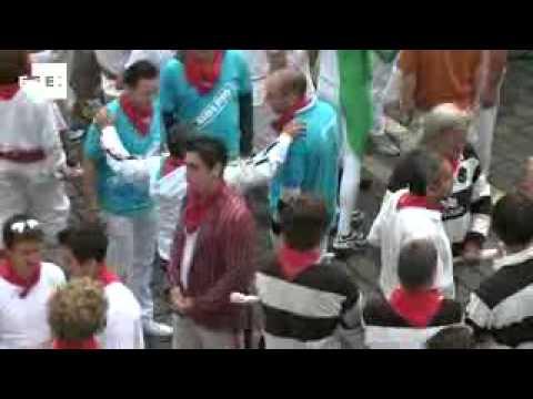 El sexto encierro de los sanfermines se salda con siete heridos