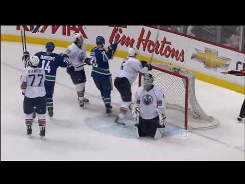 Canucks Vs Oilers - Alex Burrows Goal - 04.02.11 - HD