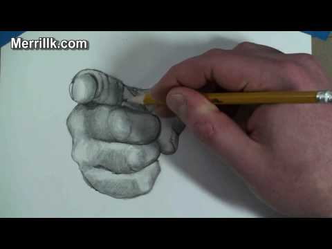 How to Draw the Hand Step by Step- Pointing Finger Uncle Sam Gesture