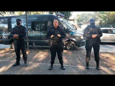 Coronavirus: La Policía Federal recorre las calles con un mensaje de prevención
