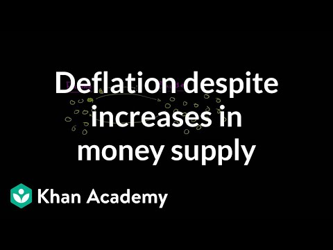 Deflation Despite Increases in Money Supply