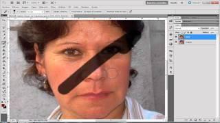 Adobe Photoshop CS5 Tutorial en español Eliminar Lineas de Expresion y Teñir Cabello