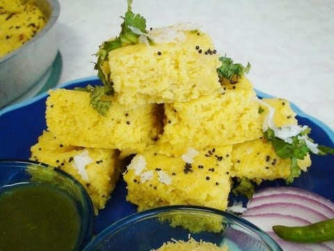 Instant Khaman Recipe Video - Nylon Khaman Recipe - Gujarati Cuisine by Bhavna