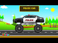 Фрагмент с начала видео - Police Monster Truck | Police Vehicles for Children | Little Kids TV