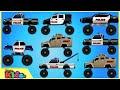 Police Monster Truck | Police Vehicles for Children | Little Kids TV
