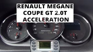 Renault Megane Coupe GT 2.0 T 220 KM - acceleration 0-100 km/h