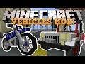Minecraft: ТРАНСПОРТ! (Мотоциклы, Джипы и тд) Обзор модов [JurassicVehicles]